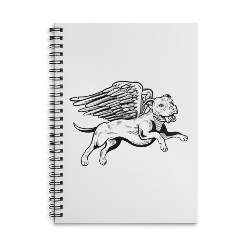 Flying Pit Accessories Lined Spiral Notebook by Pittie Chicks