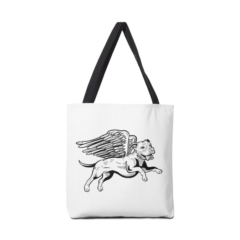 Flying Pit Accessories Tote Bag Bag by Pittie Chicks