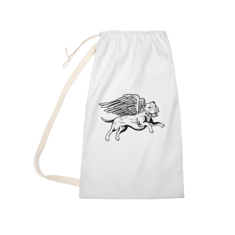 Flying Pit Accessories Laundry Bag Bag by Pittie Chicks