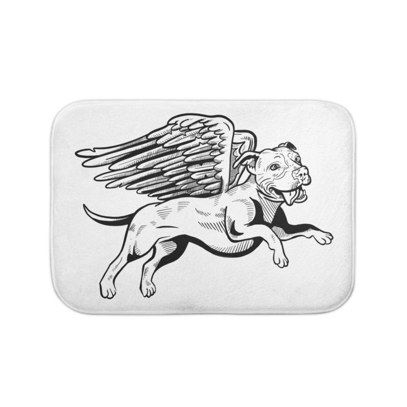 Flying Pit Home Bath Mat by Pittie Chicks