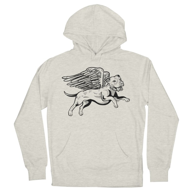 Flying Pit Women's French Terry Pullover Hoody by Pittie Chicks