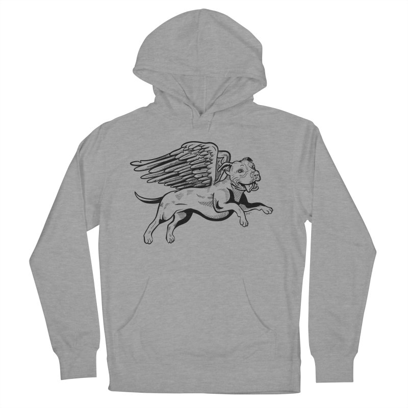 Flying Pit Men's French Terry Pullover Hoody by Pittie Chicks