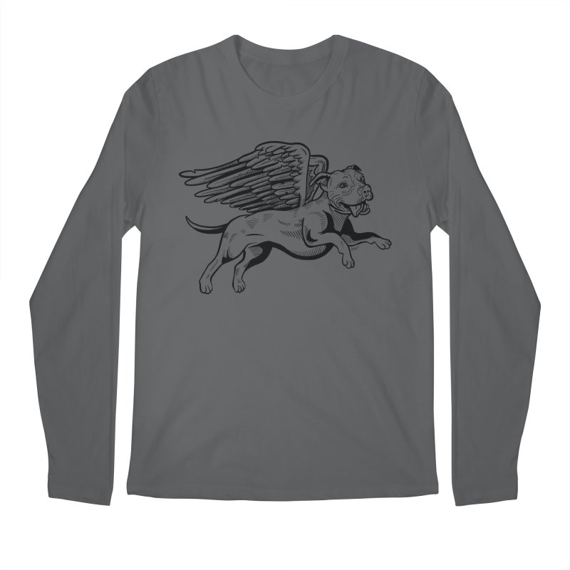 Flying Pit Men's Regular Longsleeve T-Shirt by Pittie Chicks
