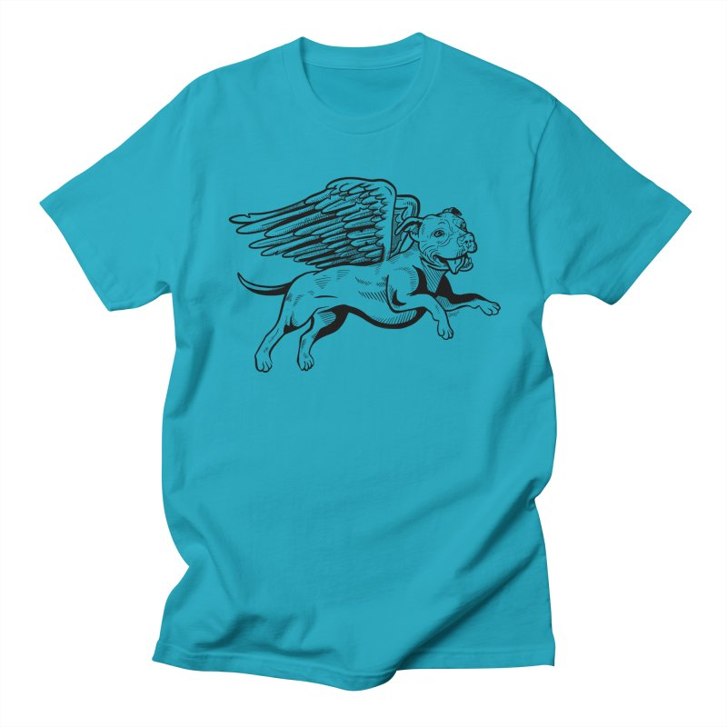 Flying Pit Women's Regular Unisex T-Shirt by Pittie Chicks