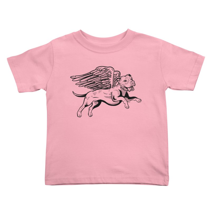 Flying Pit Kids Toddler T-Shirt by Pittie Chicks