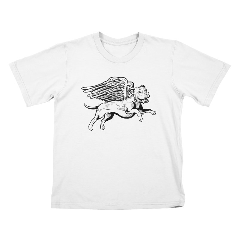 Flying Pit Kids T-Shirt by Pittie Chicks