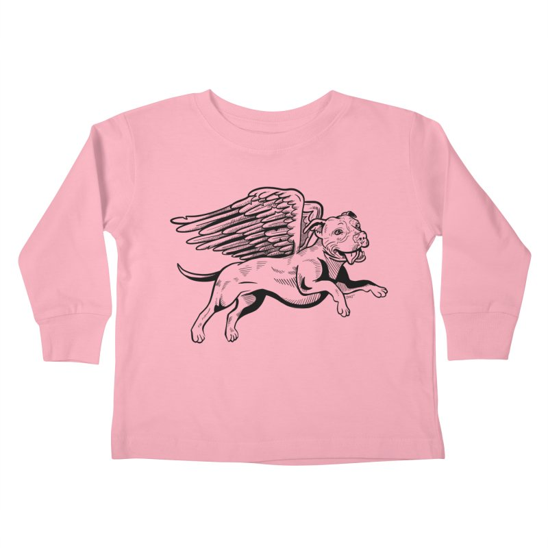 Flying Pit Kids Toddler Longsleeve T-Shirt by Pittie Chicks