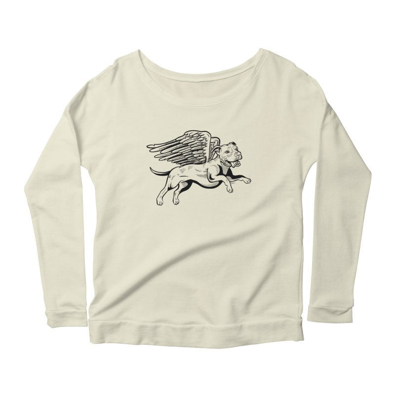 Helping Hurricane Harvey : Flying Pit Women's Longsleeve Scoopneck  by Pittie Chicks