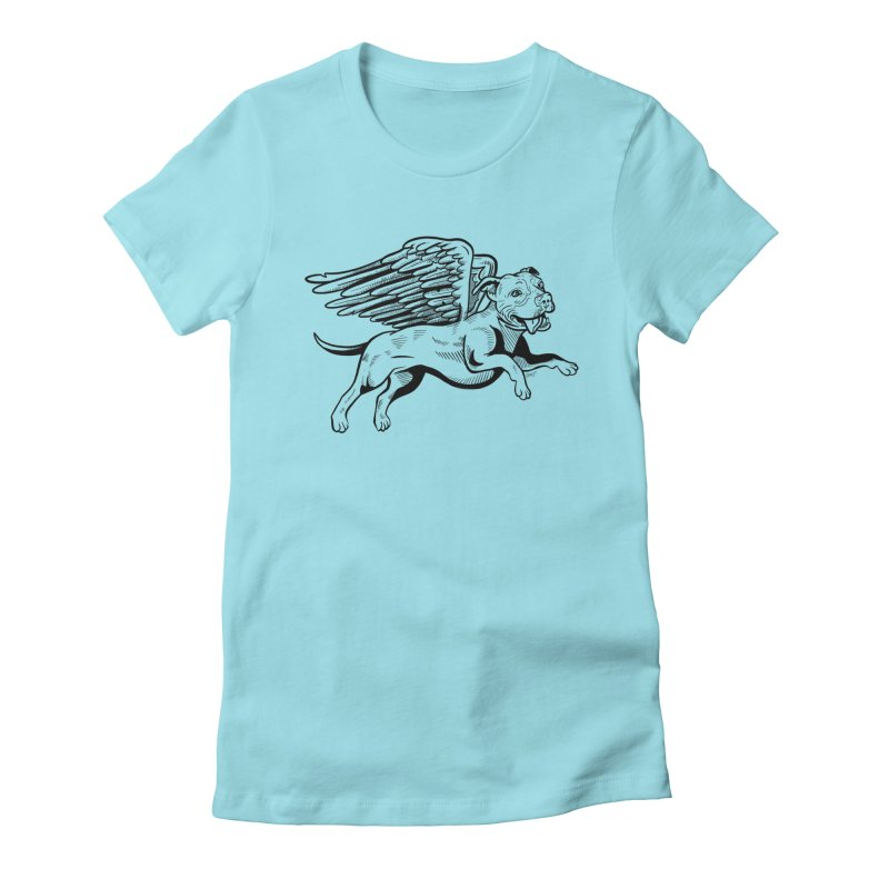 Helping Hurricane Harvey : Flying Pit Women's Fitted T-Shirt by Pittie Chicks