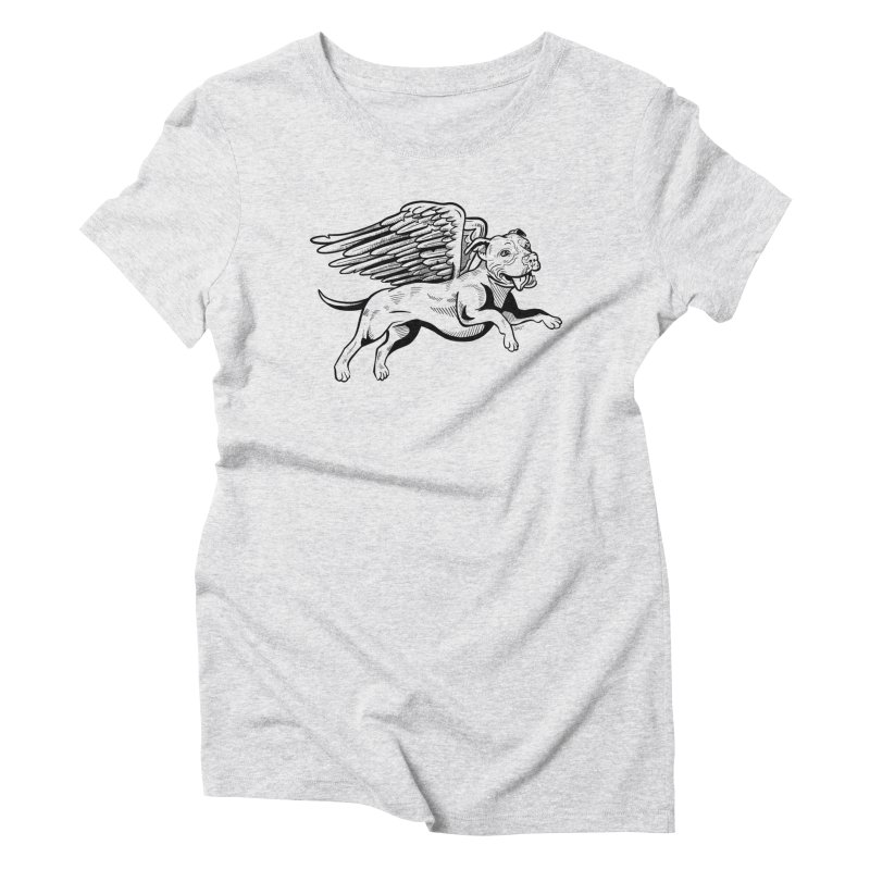 Flying Pit Women's Triblend T-Shirt by Pittie Chicks