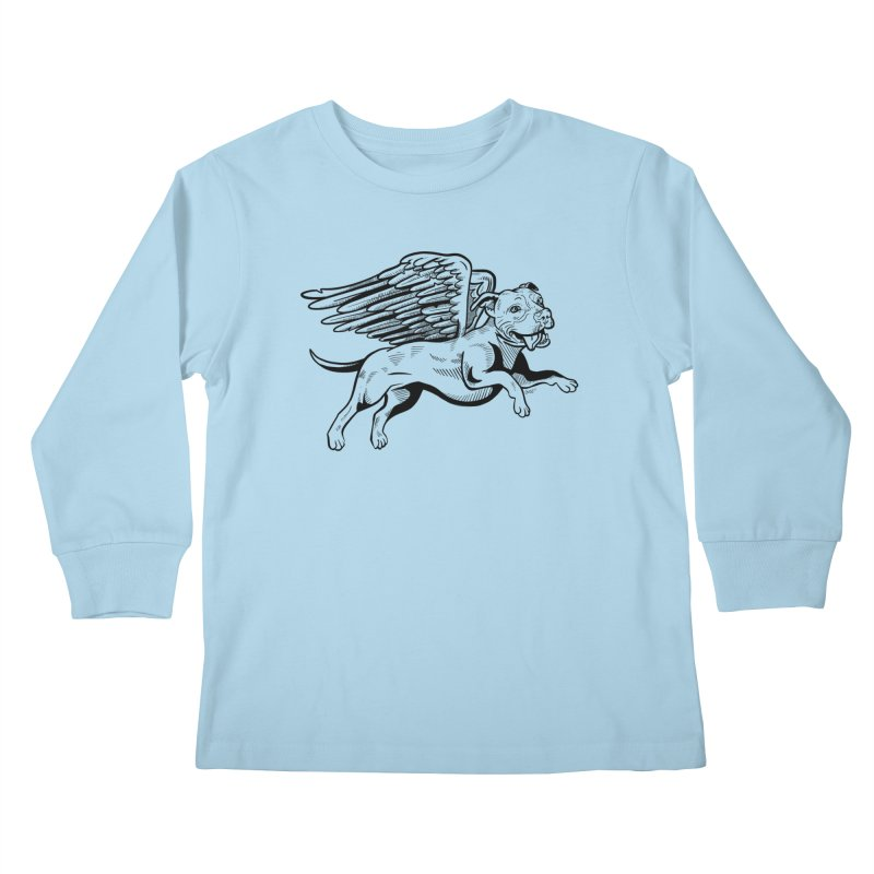 Flying Pit Kids Longsleeve T-Shirt by Pittie Chicks