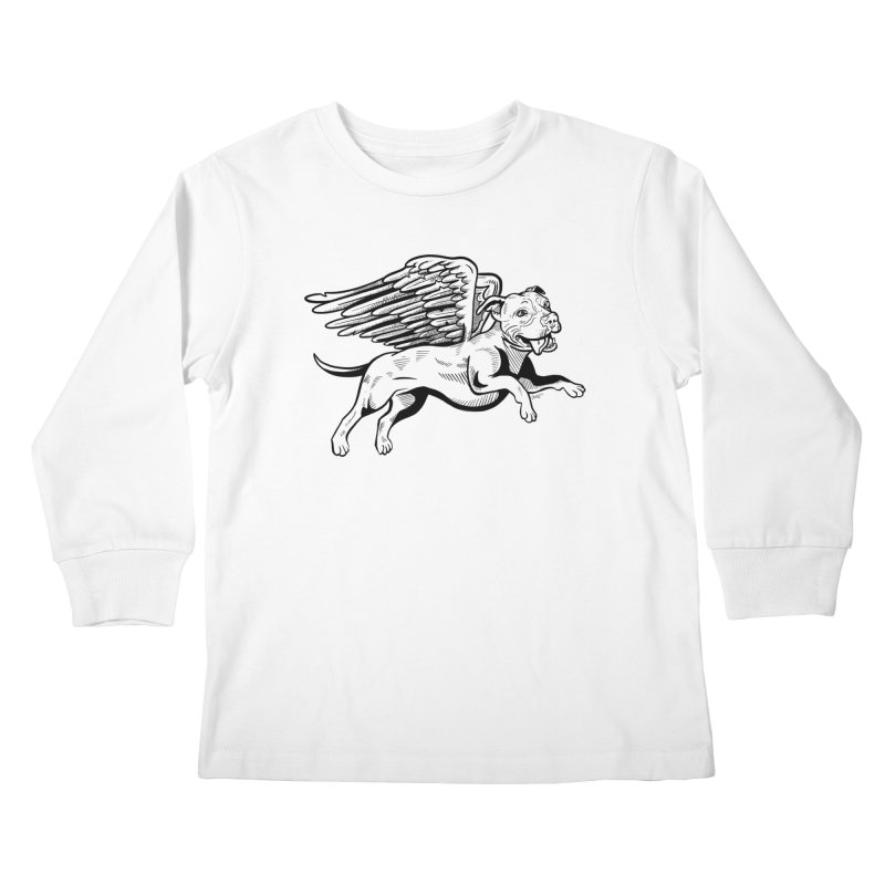 Flying Pit Kids Longsleeve T-Shirt by Pittie Chicks