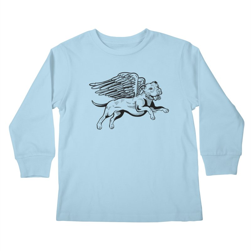 Helping Hurricane Harvey : Flying Pit Kids Longsleeve T-Shirt by Pittie Chicks