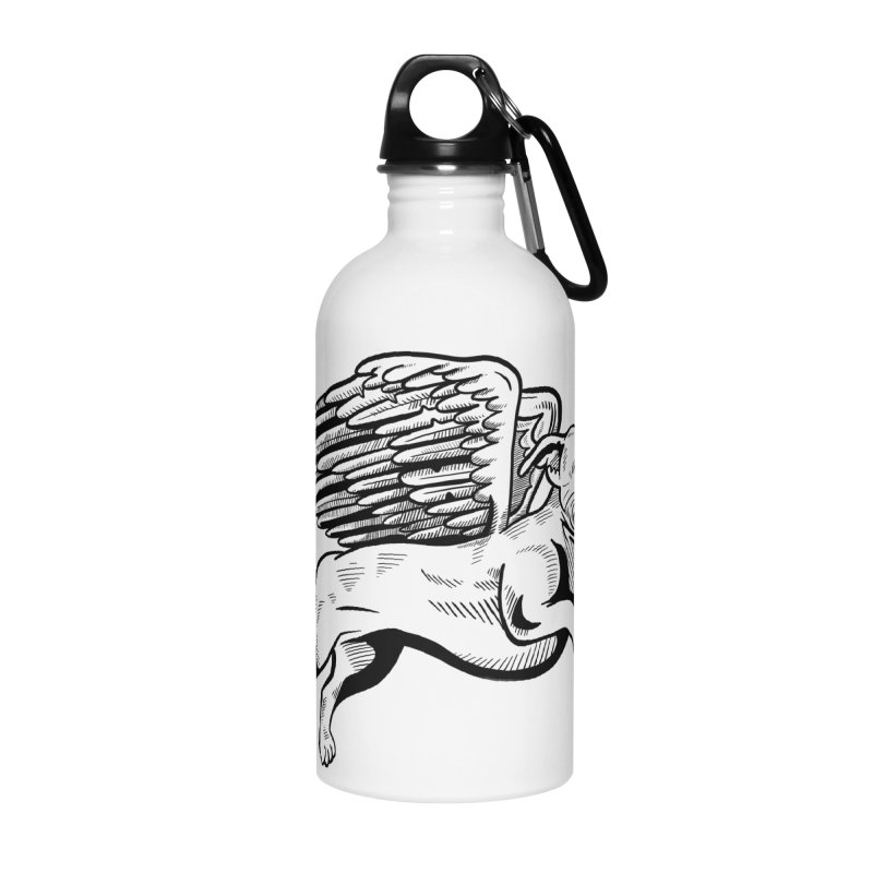 Helping Hurricane Harvey : Flying Pit Accessories Water Bottle by Pittie Chicks