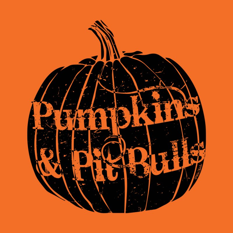 Pumpkins & Pit Bulls Women's T-Shirt by Pittie Chicks
