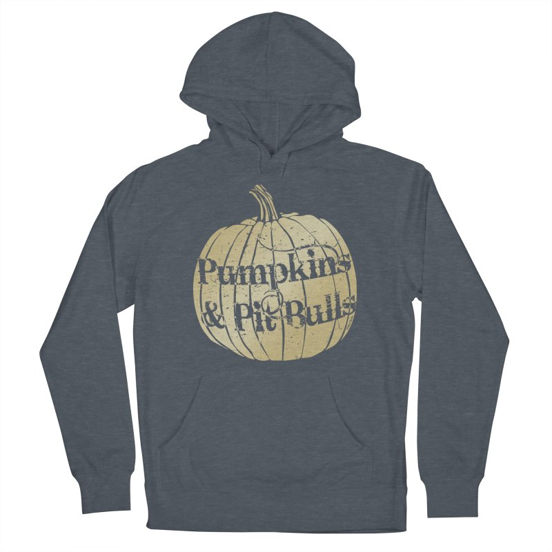 Pumpkins & Pit Bulls Women's French Terry Pullover Hoody by Pittie Chicks