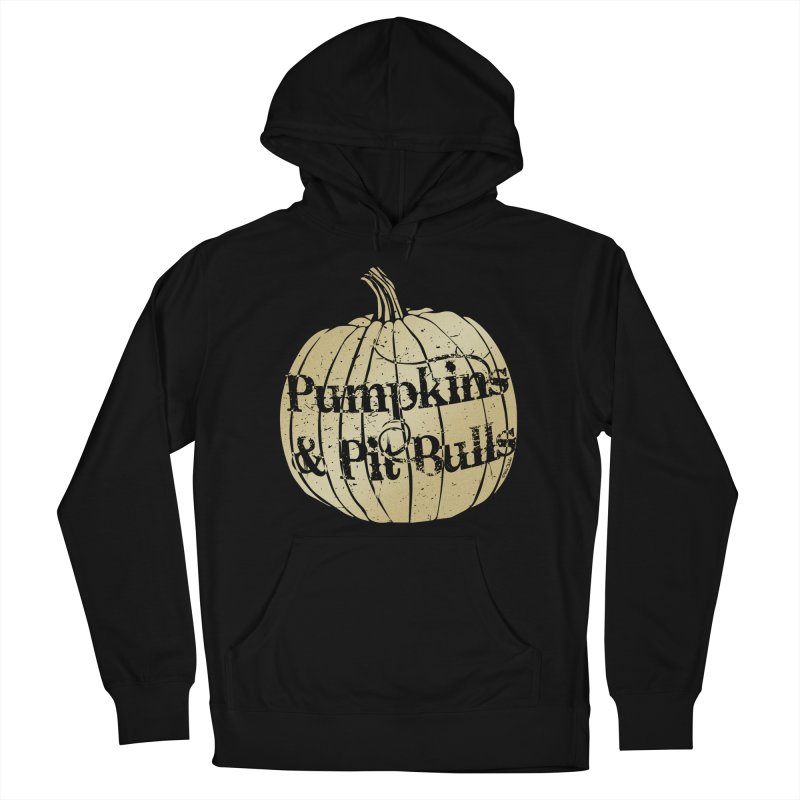 Pumpkins & Pit Bulls Men's French Terry Pullover Hoody by Pittie Chicks