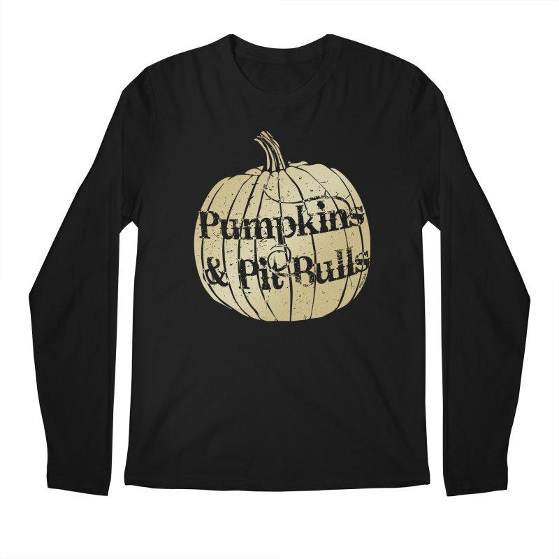 Pumpkins & Pit Bulls Men's Longsleeve T-Shirt by Pittie Chicks