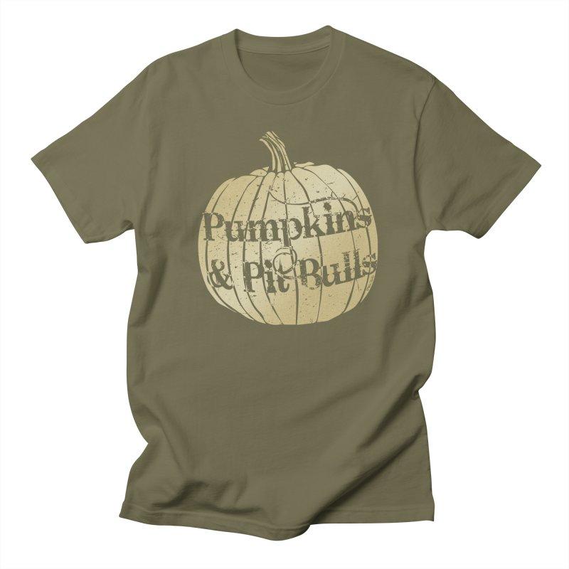 Pumpkins & Pit Bulls Women's Unisex T-Shirt by Pittie Chicks