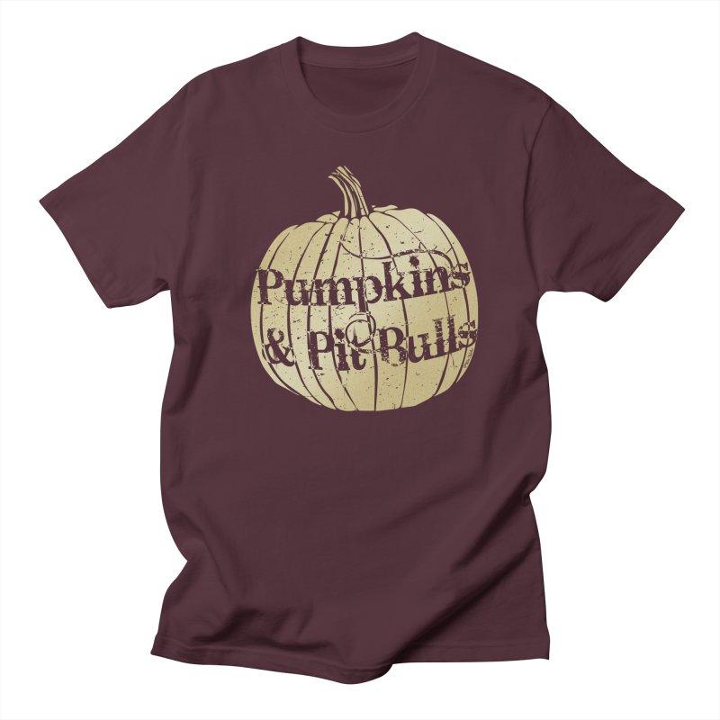 Pumpkins & Pit Bulls Women's Regular Unisex T-Shirt by Pittie Chicks