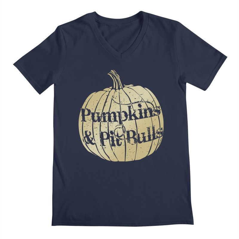 Pumpkins & Pit Bulls Men's V-Neck by Pittie Chicks