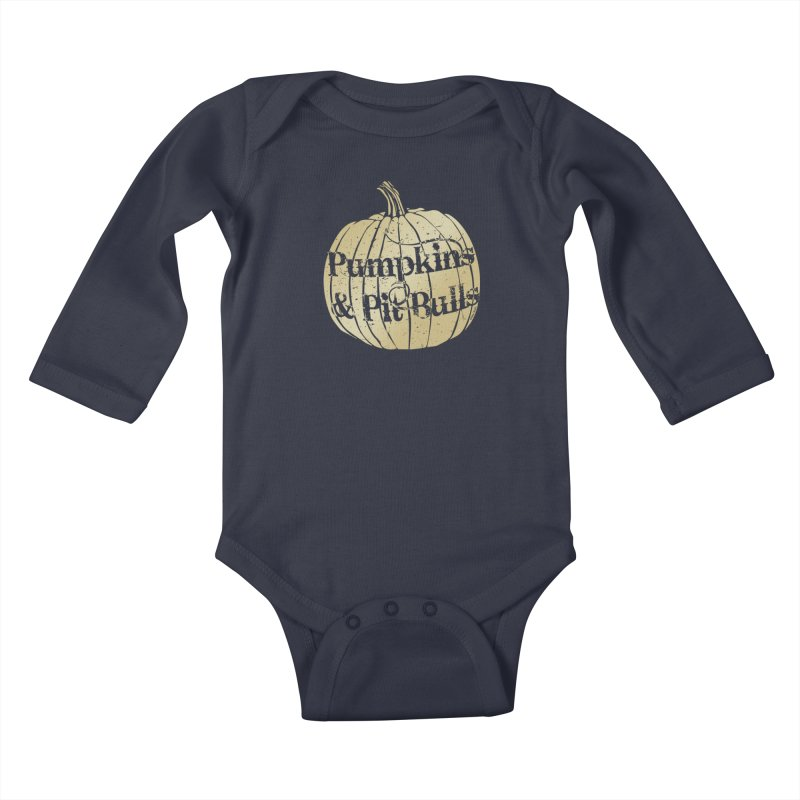 Pumpkins & Pit Bulls Kids Baby Longsleeve Bodysuit by Pittie Chicks