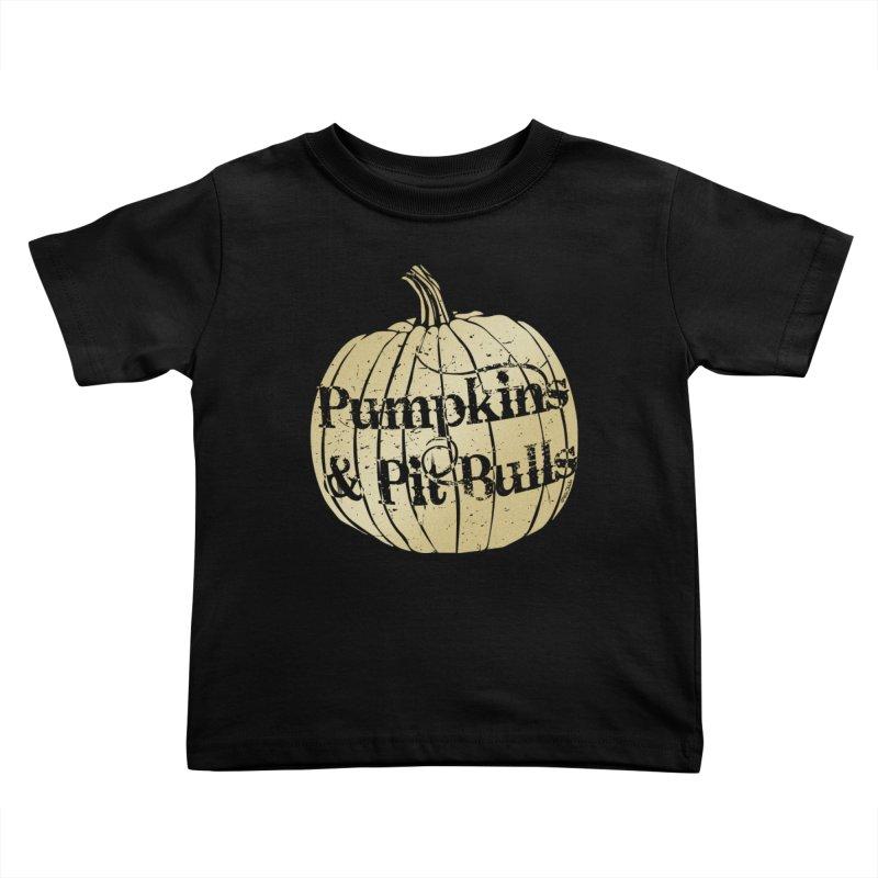 Pumpkins & Pit Bulls Kids Toddler T-Shirt by Pittie Chicks