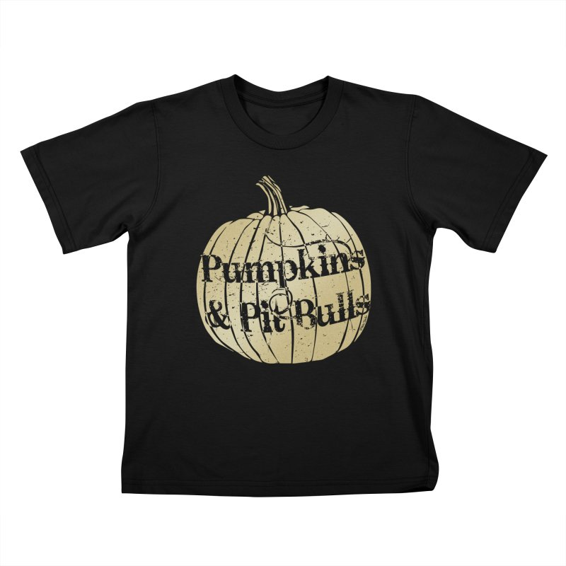 Pumpkins & Pit Bulls Kids T-Shirt by Pittie Chicks