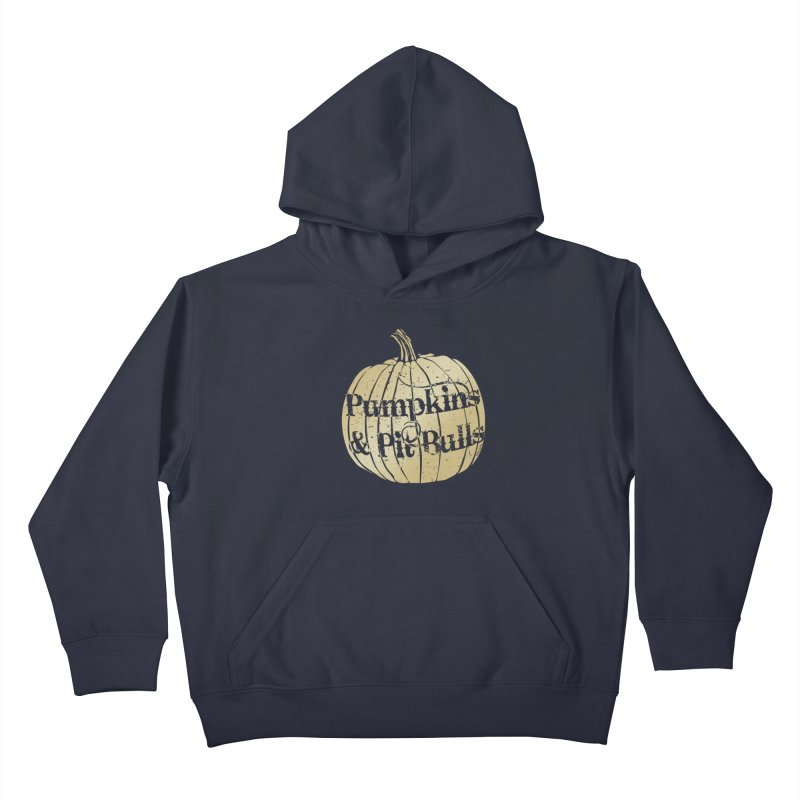 Pumpkins & Pit Bulls Kids Pullover Hoody by Pittie Chicks