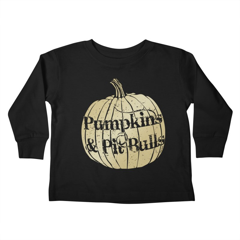 Pumpkins & Pit Bulls Kids Toddler Longsleeve T-Shirt by Pittie Chicks