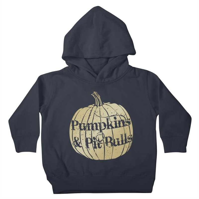 Pumpkins & Pit Bulls Kids Toddler Pullover Hoody by Pittie Chicks