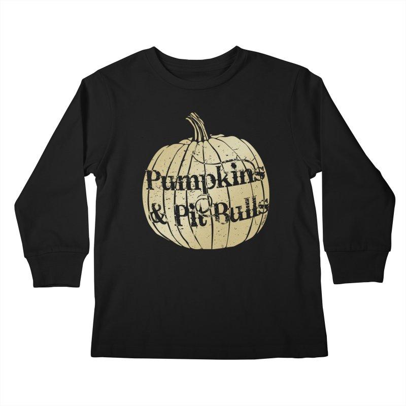 Pumpkins & Pit Bulls Kids Longsleeve T-Shirt by Pittie Chicks