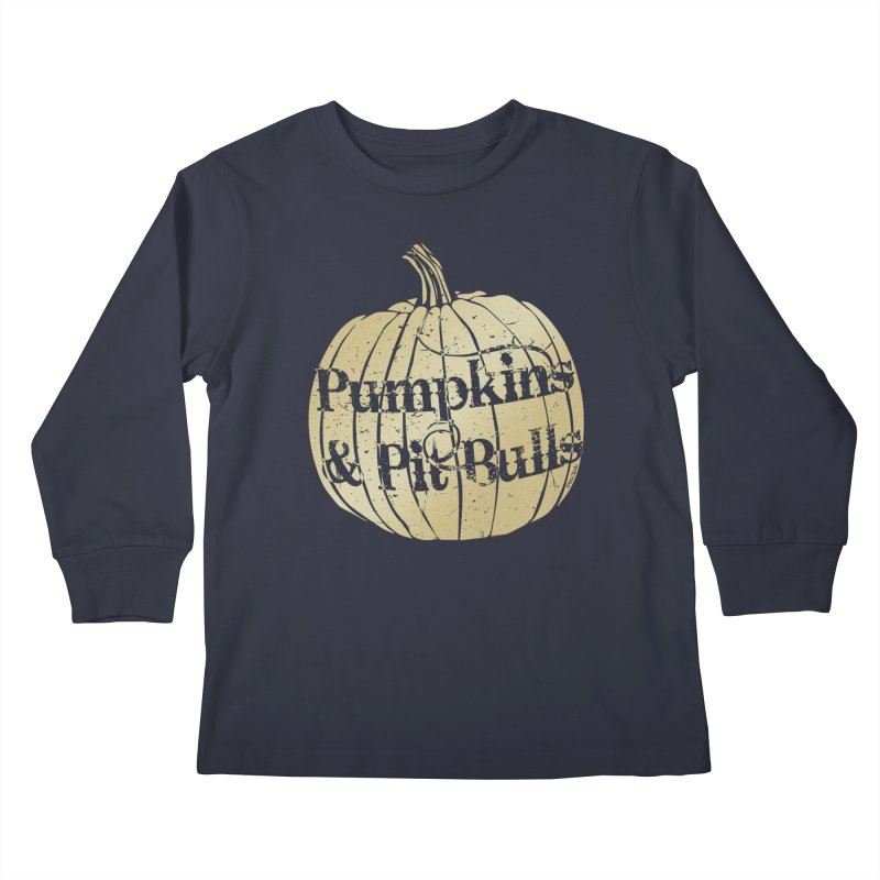 Pumpkins & Pit Bulls Kids Longsleeve T-Shirt by Pittie Chicks