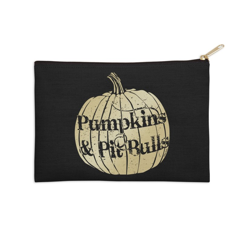 Pumpkins & Pit Bulls Accessories Zip Pouch by Pittie Chicks