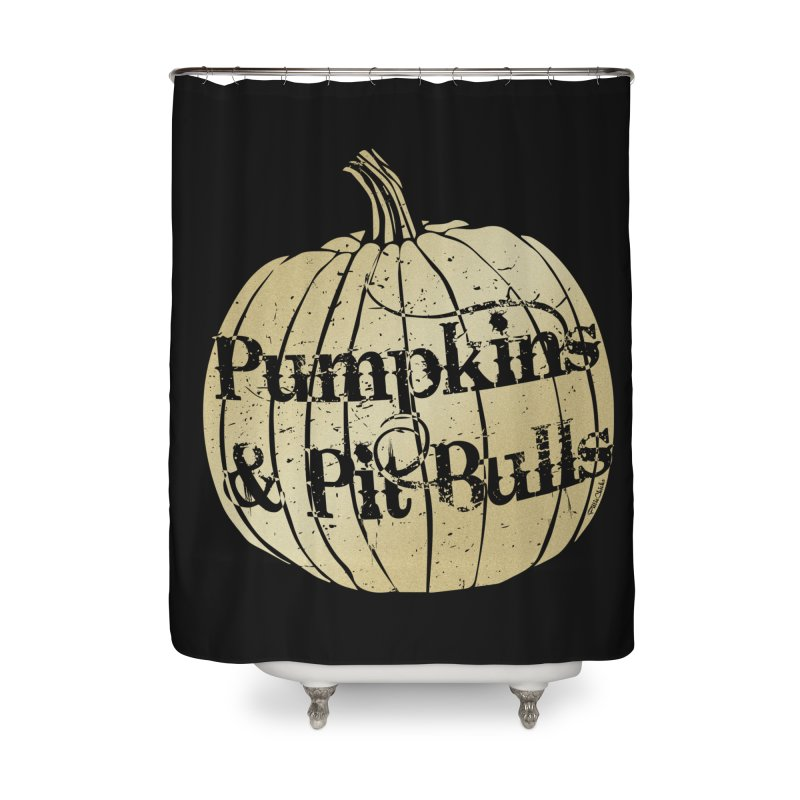 Pumpkins & Pit Bulls Home Shower Curtain by Pittie Chicks