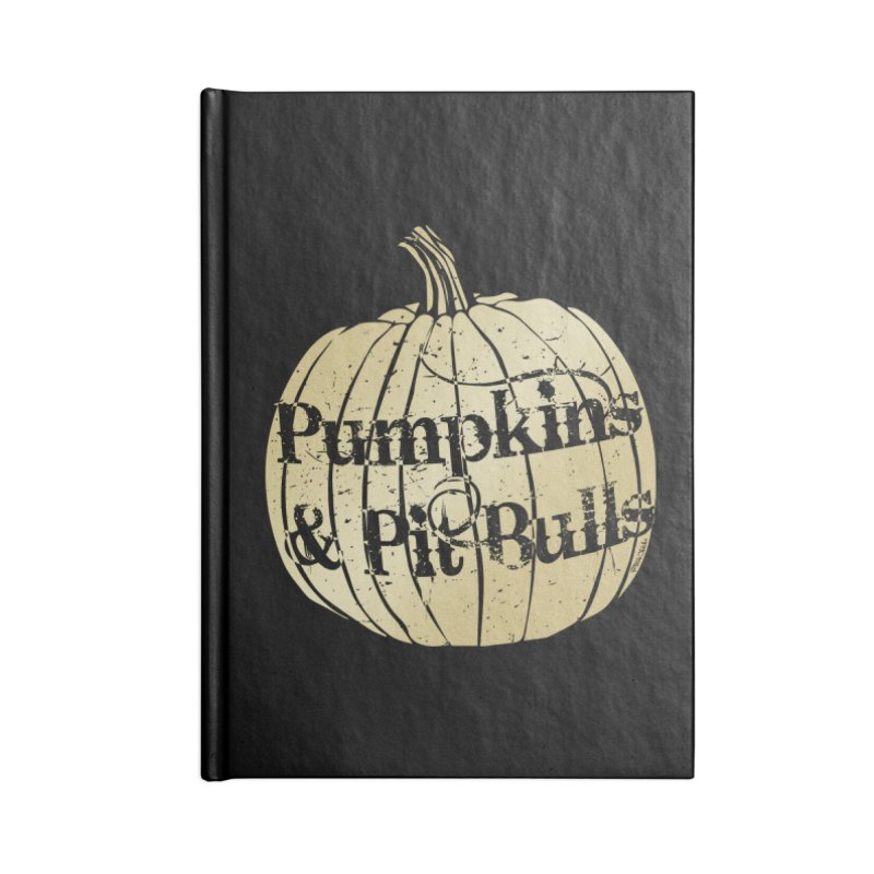 Pumpkins & Pit Bulls Accessories Lined Journal Notebook by Pittie Chicks