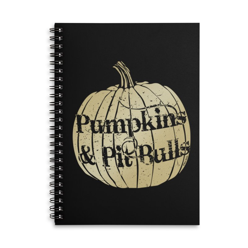 Pumpkins & Pit Bulls Accessories Lined Spiral Notebook by Pittie Chicks