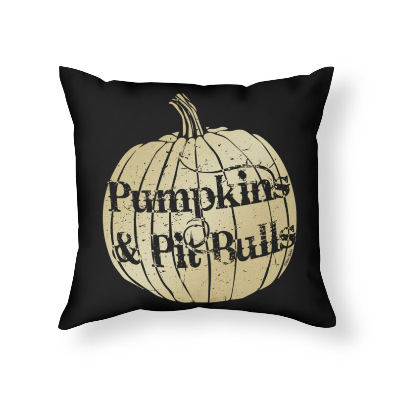 Pumpkins & Pit Bulls Home Throw Pillow by Pittie Chicks