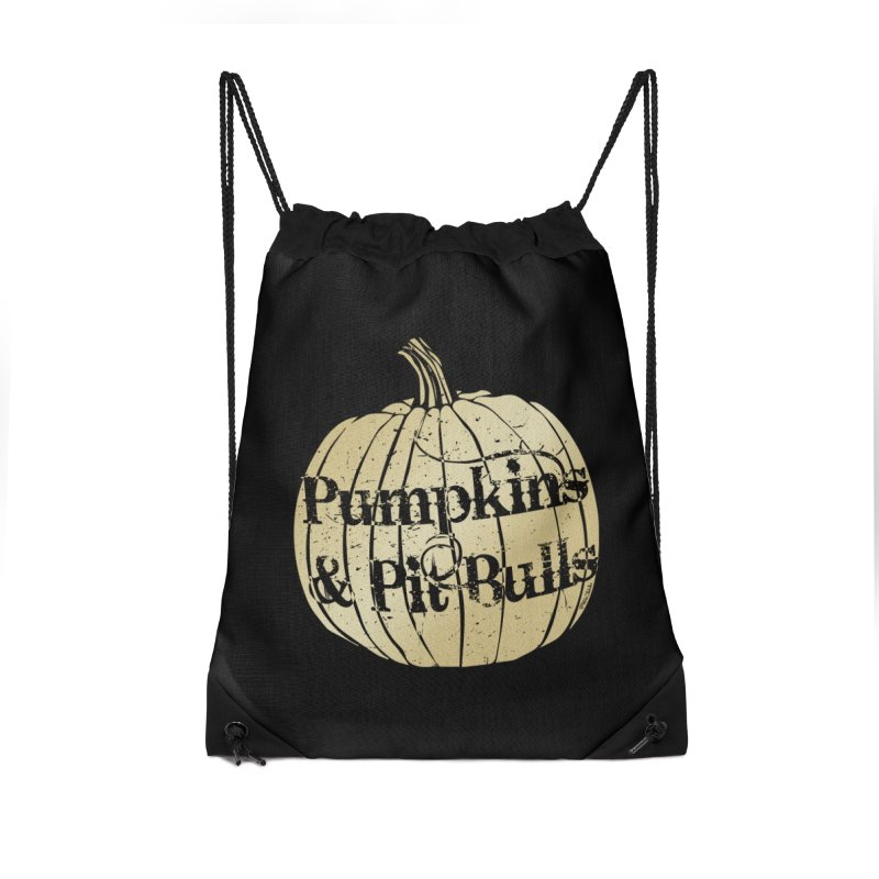 Pumpkins & Pit Bulls Accessories Drawstring Bag Bag by Pittie Chicks