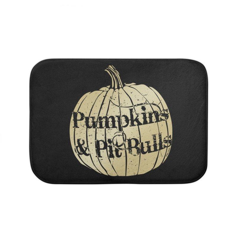 Pumpkins & Pit Bulls Home Bath Mat by Pittie Chicks