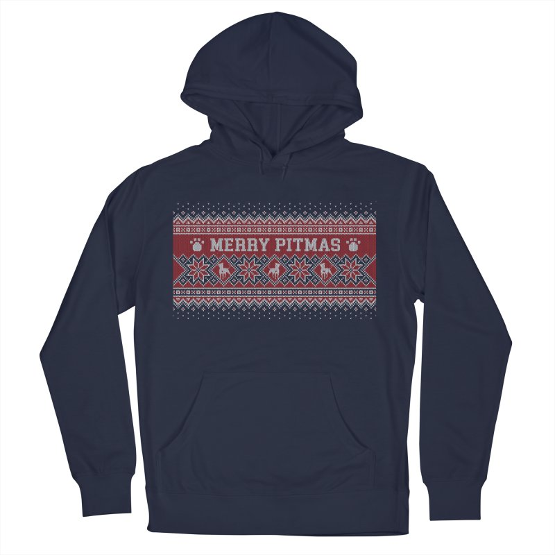 Merry Pitmas Ugly Sweater - Holly Women's French Terry Pullover Hoody by Pittie Chicks