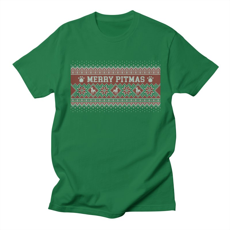 Merry Pitmas Ugly Sweater - Holly Women's Regular Unisex T-Shirt by Pittie Chicks