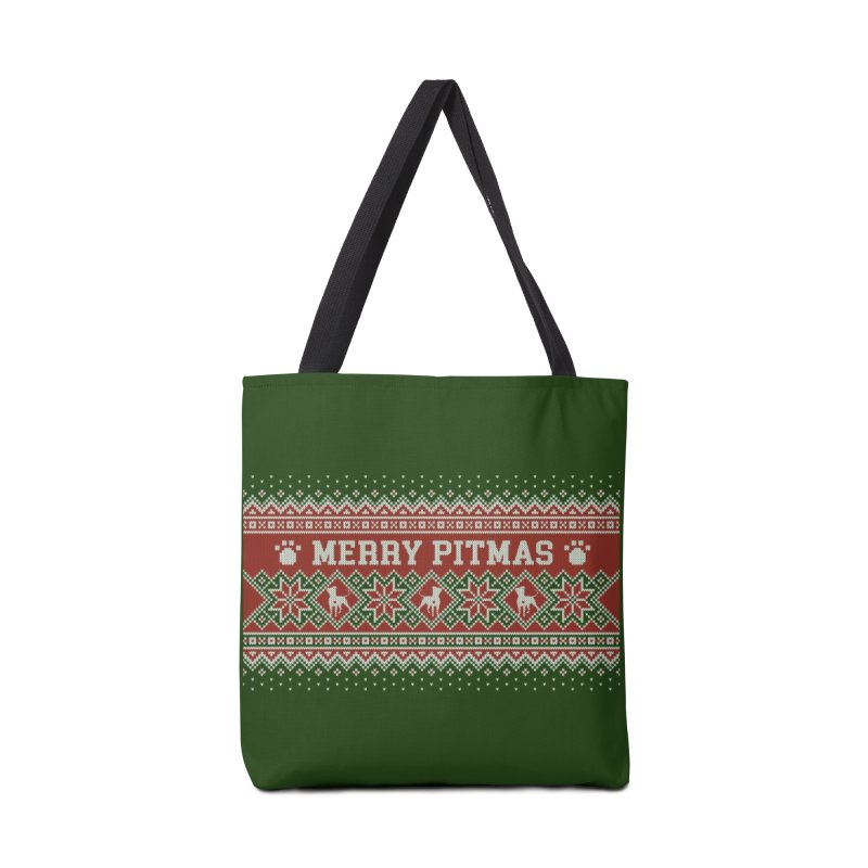 Merry Pitmas Ugly Sweater - Holly Accessories Bag by Pittie Chicks