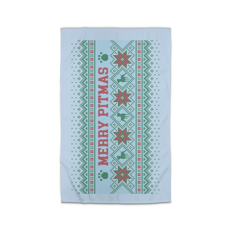 Merry Pitmas Ugly Sweater - Jolly Home Rug by Pittie Chicks