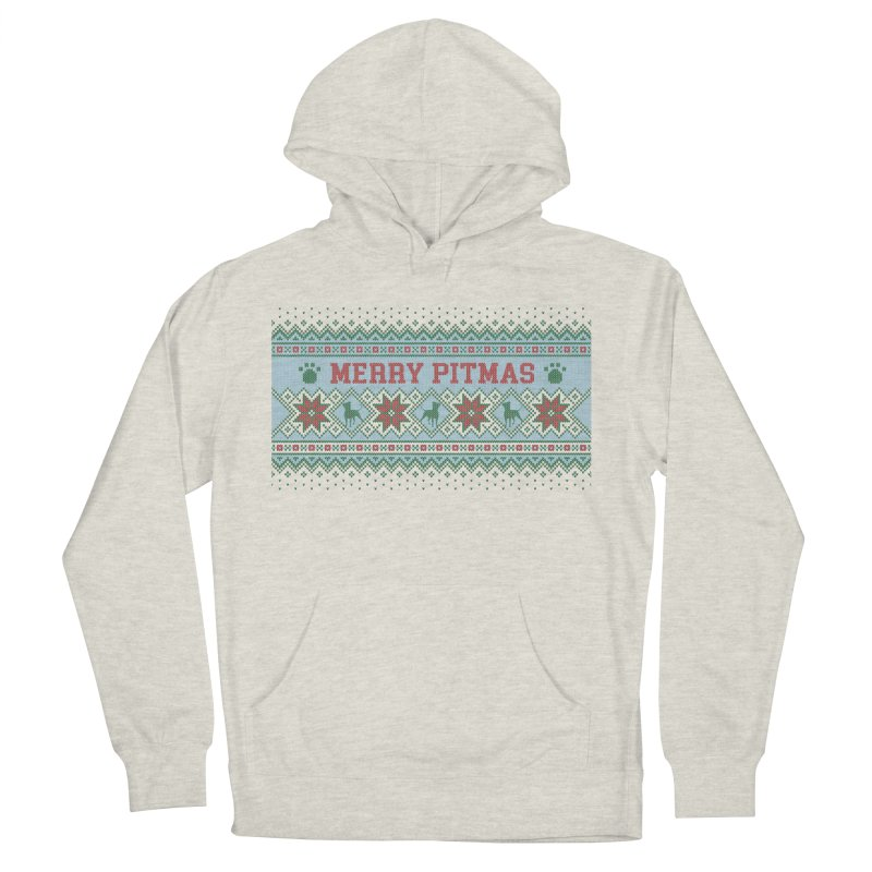 Merry Pitmas Ugly Sweater - Jolly Women's Pullover Hoody by Pittie Chicks