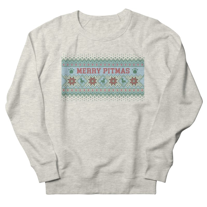 Merry Pitmas Ugly Sweater - Jolly Men's Sweatshirt by Pittie Chicks