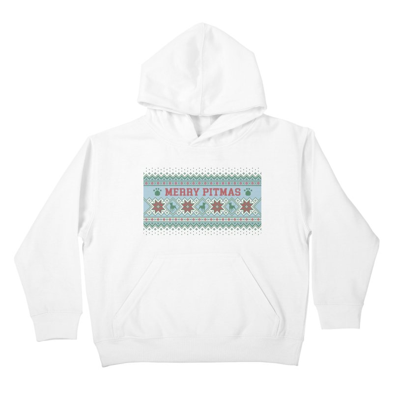Merry Pitmas Ugly Sweater - Jolly Kids Pullover Hoody by Pittie Chicks