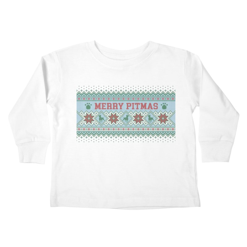 Merry Pitmas Ugly Sweater - Jolly Kids Toddler Longsleeve T-Shirt by Pittie Chicks