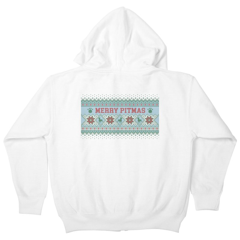 Merry Pitmas Ugly Sweater - Jolly Kids Zip-Up Hoody by Pittie Chicks