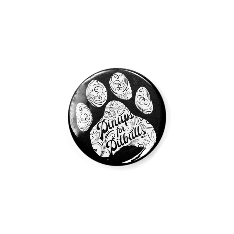 Pinups for Pitbulls Paw Print Accessories Button by Pittie Chicks